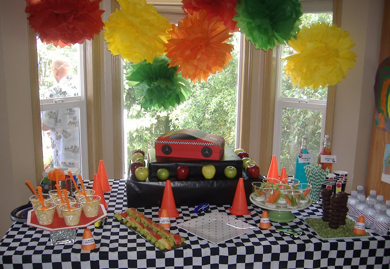 cars party table