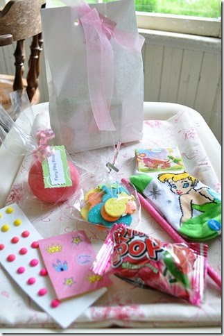 fairy party favor bag