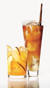 creamy chai iced tea/gingery peach cooler