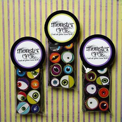Monster sticker eyeball treats