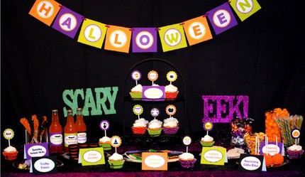 Lil Boo & Co Halloween party printable