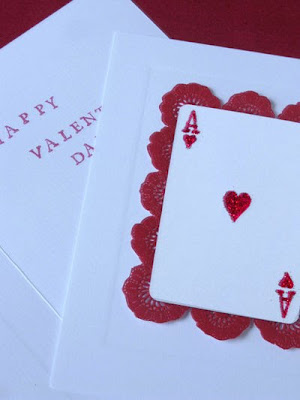 Martha Stewart playing card Valentine