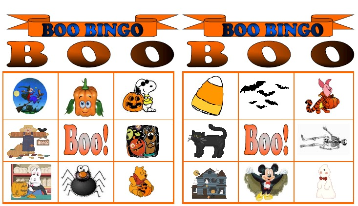 picture about Free Printable Halloween Bingo called Boo Bingo!!! Absolutely free Halloween Printable Schooling Middle Site