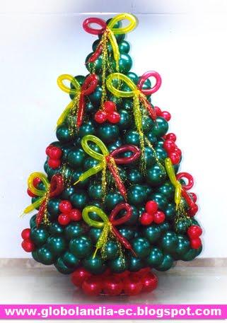 Globolandia arte en el aire albol de navidad de globos - Diseno de arboles de navidad ...