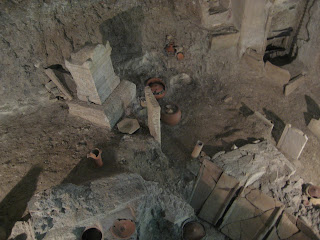 Excavations of Via Triumphalis pagan tombs, sarcophagi & mosaics right under the Vatican!