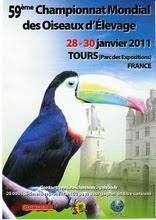 59ºCAMPEONATO ORNITOLOGICO MUNDIAL FRANÇA 2011 - TOURS