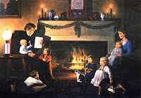 Free Christmas Fireplace Desktop Wallpaper