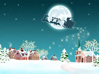 Santa Sleigh Desktop Wallpapers