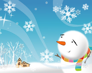 Christmas Snowman Desktop Wallpapers