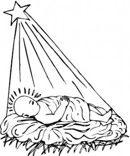 christmas star shining on jesus coloring pages