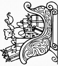 Santa Cart Coloring Pages