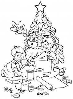 kids xmas decoration coloring activities