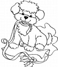Funny Christmas Coloring Sheet