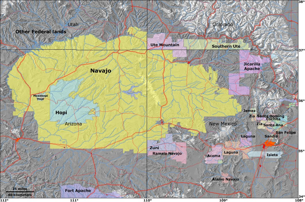 Map Indian Reservations South Dakota