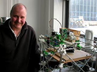 Adrian Bowyer and a RepRap machine