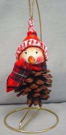 Pinecone gourd Snowman