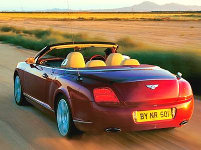 Bentley Continental GTC The exterior dimensions of the JWG are virtually
