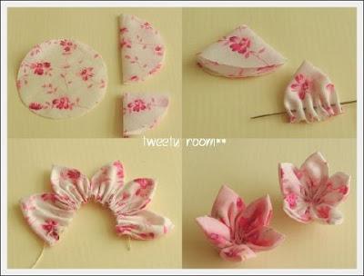 rouge primrose: fiori di stoffa + tutorial dal web