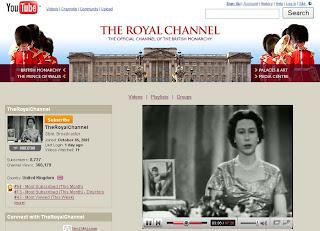 La Reine d'Angleterre sur YouTube
