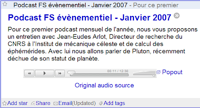 Podcast avec Google Reader