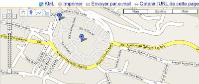 lien kml dans google maps