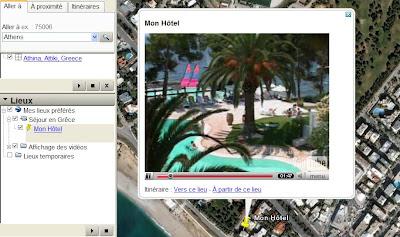 inserer une video dans google earth et google maps