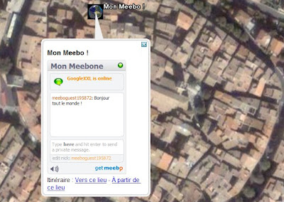 Chatter avec Google Earth