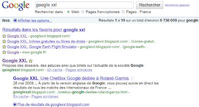 Google Recherche Personnalisée