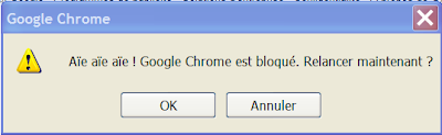 google chrome est bloque