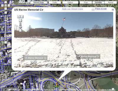 Google Street View et le USMC War Memorial