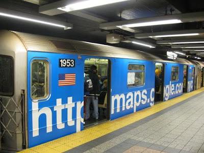 Métro New-Yorkais aux couleurs Google Maps
