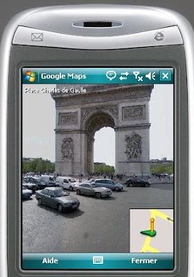 Google Street View pour les Nokia et les périphériques Windows Mobile