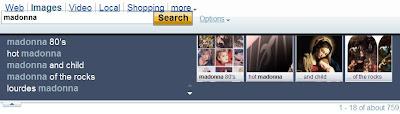 Suggestions d'images dans Yahoo!