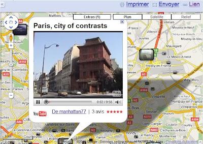YouTube intégré à Google Maps