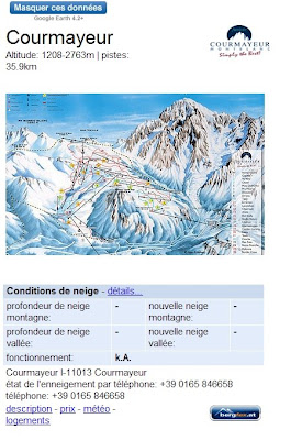 Conditions d'enneigement des stations de ski avec Google Earth
