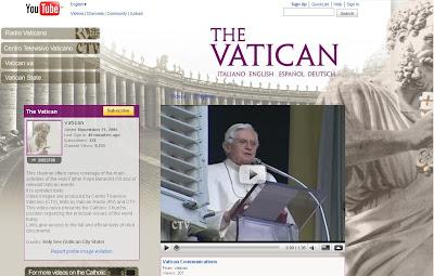Le Vatican possède sa chaîne sur YouTube