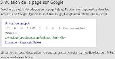 Snippet Google