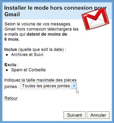 Utiliser Gmail en mode hors-connexion