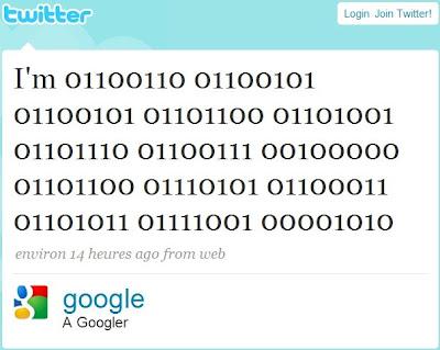 Google ouvre officiellement un compte sur Twitter