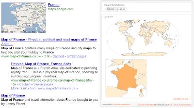 Une comparaison entre Google et Wolfram