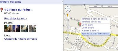Infos locales dans Google Maps
