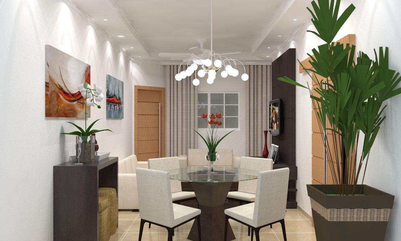 Tv Lar Sala De Jantar ~ Leandro Designer de Interiores SALA TVJANTAR SKETCHUP+VRAY