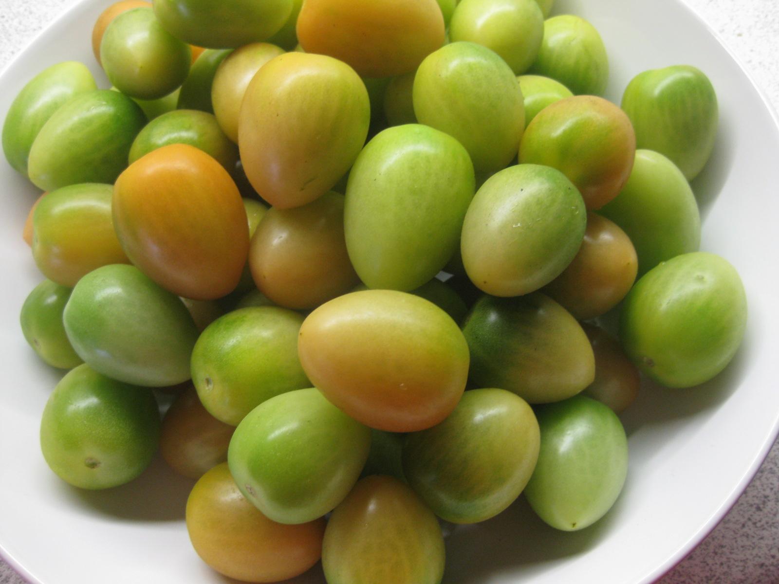 grønne syltede tomater