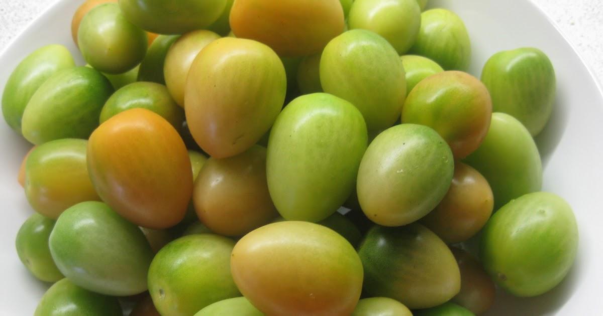 syltede grønne tomater