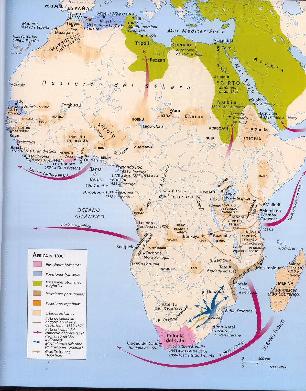 Map  Informacin Sobre frica Mapa