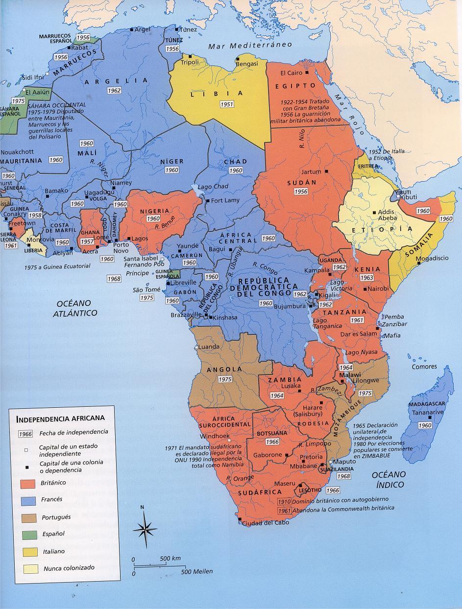 Mapa Etnico De Africa