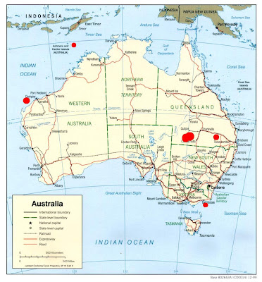 Map Of Oil And Gas Fields Of Australia Petrobloggercom - Us-oil-fields-map