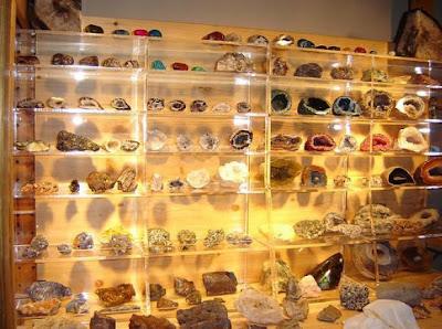 Colección de rocas y minerales