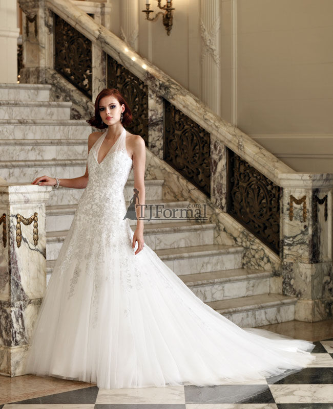 Many wedding dresses at TJFormalcom can be made in Diamond White