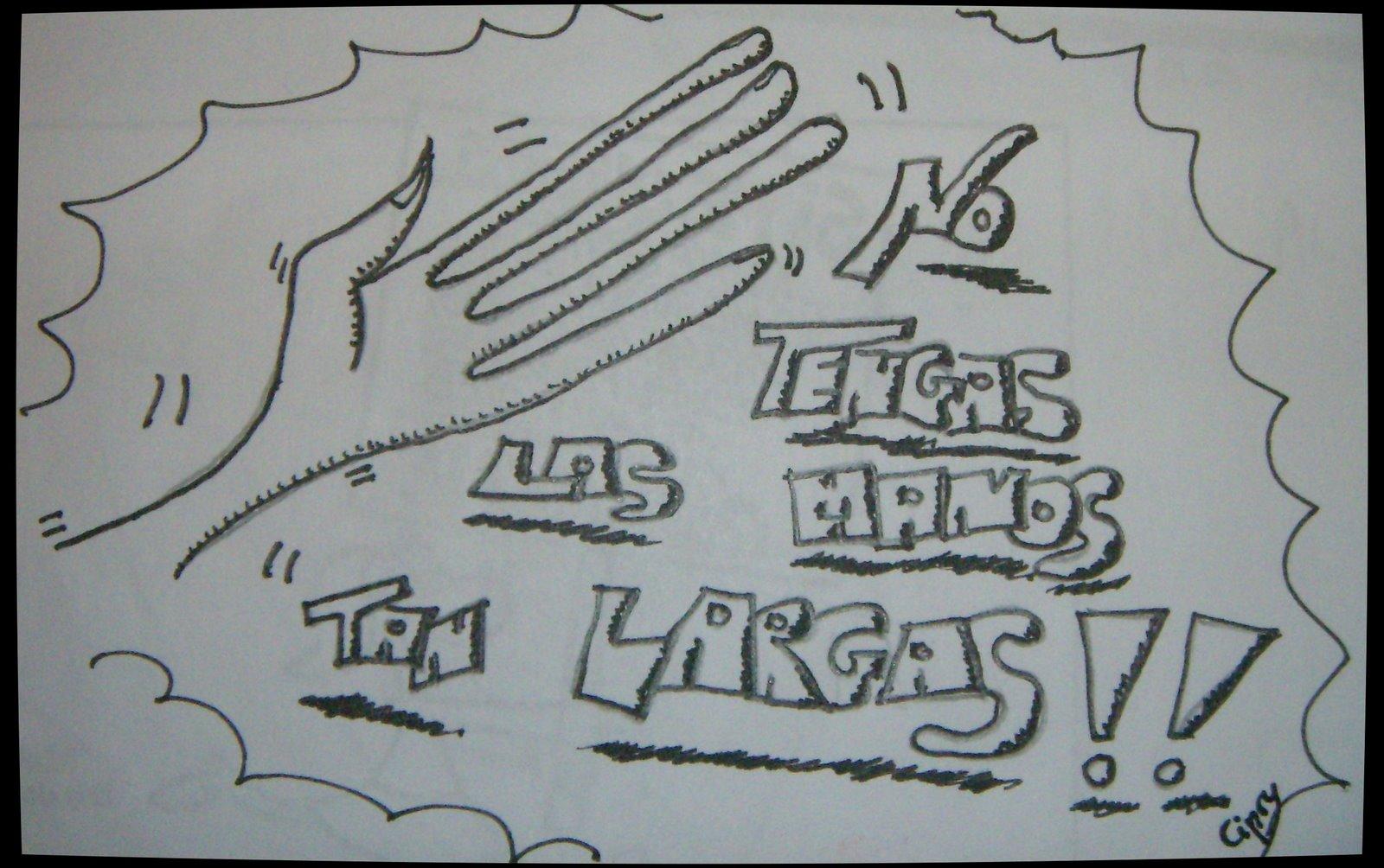 Dibujos contra la violencia de género manos largas